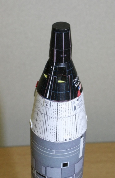 1/100スケールペーパークラフトによる ジェミニ宇宙船