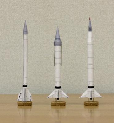1/100スケールペーパークラフトによる ヴァイキングロケットたち 2010年2月13日