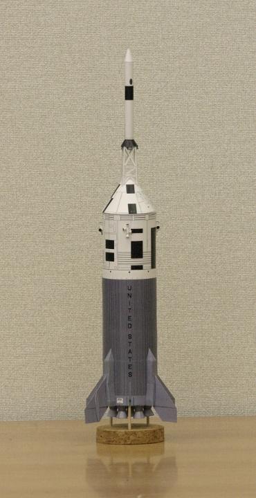 1/100スケールペーパークラフトによる アポロ リトル・ジョーⅡ