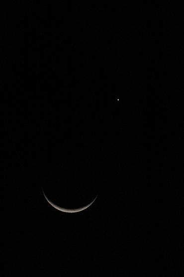 月と金星の接近 2010年5月16日 19:15頃