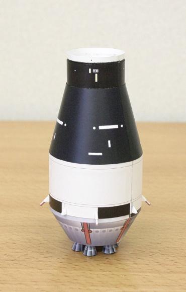 """1/100スケールペーパークラフトによる サターン Ⅰ SA-6(第二段""""S-Ⅳ"""")"""