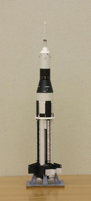 1/100スケールペーパークラフトによる サターン Ⅰ SA-6 (A-101)