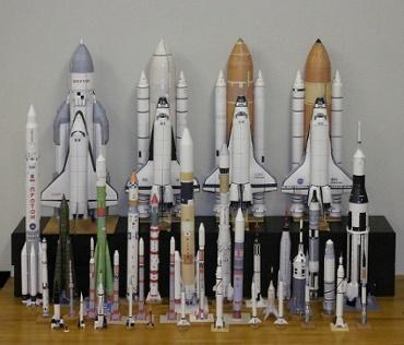 1/100スケールペーパークラフトによるロケットたち 2010年5月15日