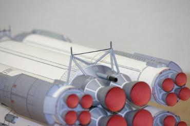 1/100スケールペーパークラフトによる エネルギア-ブラン のアタッチメント(下部)