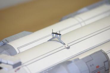 1/100スケールペーパークラフトによる エネルギア-ブラン のアタッチメント(上部)