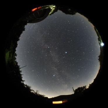 2010年8月3日 城里町ふれあいの里天文台にて