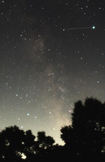 夏の天の川と流星 2010年8月3日
