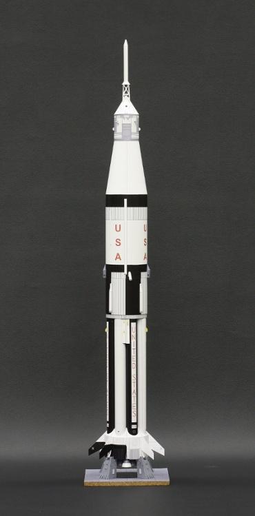 1/100スケールペーパークラフトによる サターン ⅠB SA-205