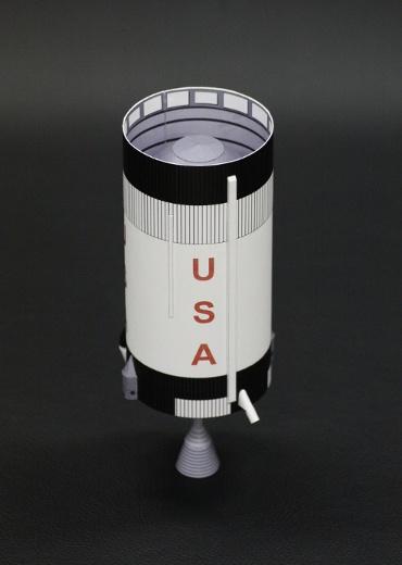 1/100スケールペーパークラフトによる S-ⅣB (SA-205)