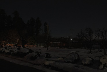 月明かりの下の雪景色 2011年1月17日