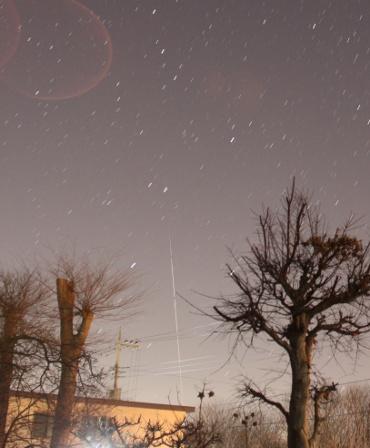 北東の空に見えたISS 2011年1月27日