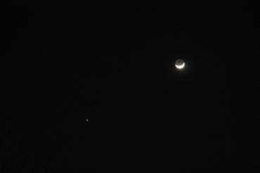 月と木星 2011年2月7日