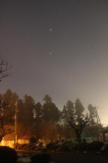 雪の後の霧 2011年2月12日 自宅にて