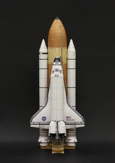 1/100スケールペーパークラフトによる スペースシャトル ディスカバリー (STS-128)