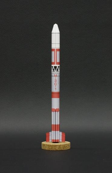 1/100スケールペーパークラフトによる Μ-3C-1