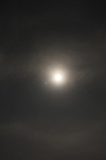 月の暈 撮影失敗