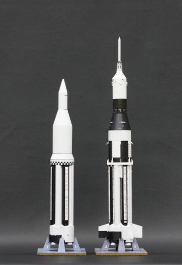 1/100スケールペーパークラフトによる サターン Ⅰ SA-1 と SA-6