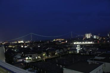 明石市立天文科学館から眺める夜景
