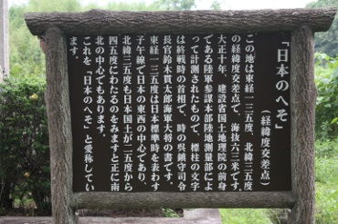日本のへそ 解説板