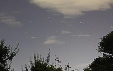国際宇宙ステーションの軌跡 2011年6月28日 午後9時頃