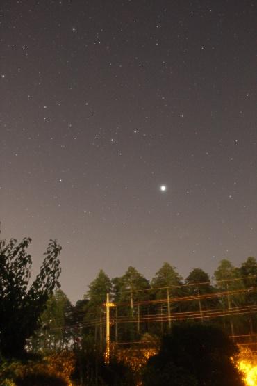 東の空に昇る木星 2011年7月13日 自宅にて