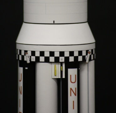 1/100スケールペーパークラフトによる サターン Ⅰ SA-3 第一段上部