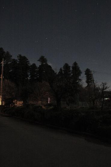 月光に照らされた光景 2011年12月13日