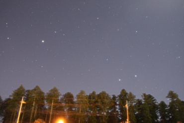 明け方の東の空 2011年12月17日