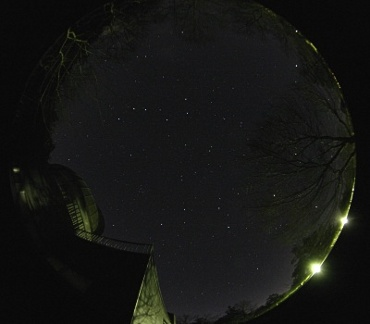2006年1月7日 城里町ふれあいの里天文台玄関前にて