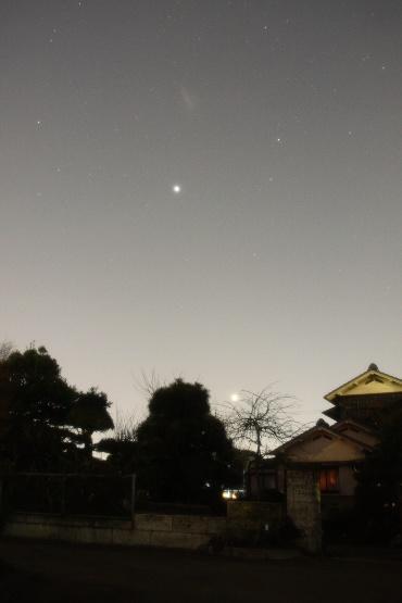 夕空の金星と木星 2012年2月19日