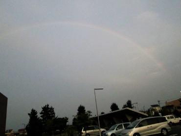 東海村の空にかかる見事な虹 その1