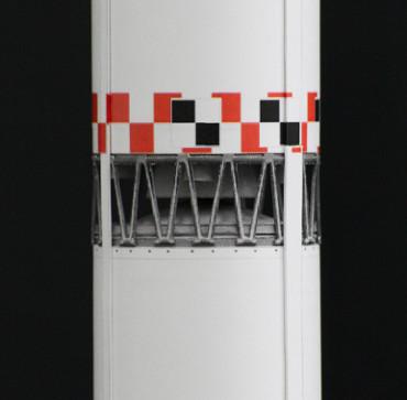 1/100スケールペーパークラフトによる ゼニット-2(第一段〜第二段のトラス部分)