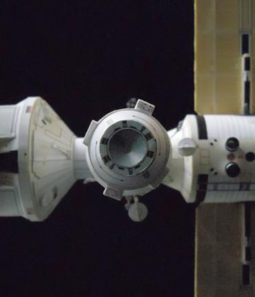 推進モジュール分離後の「ピアース」(地球側から)