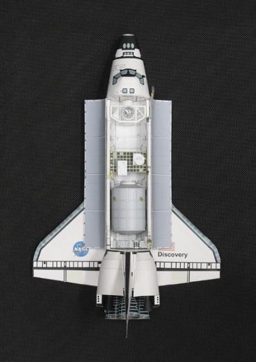 1/100スケールペーパークラフトによる STS-121「ディスカバリー」