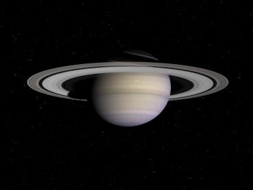 """""""Celestia""""による土星"""