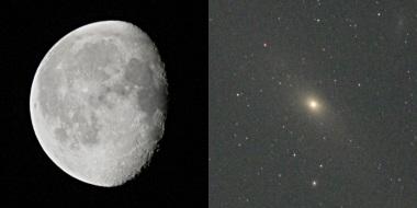 月とM31 自宅にて