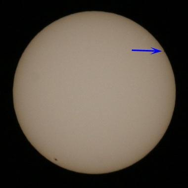 水星太陽面通過 2006年11月9日 午前9:09
