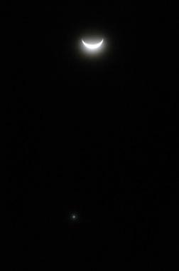 月と金星の接近 2007年5月20日 自宅にて